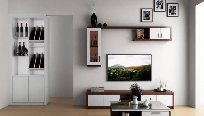 Kệ treo tường phòng khách