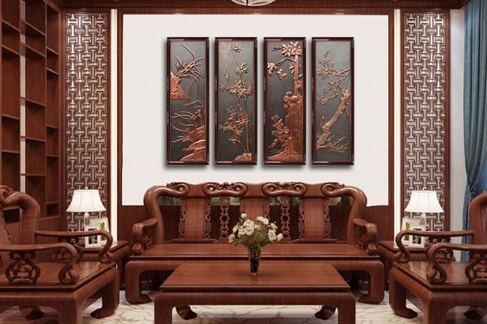 Tranh gỗ phòng khách